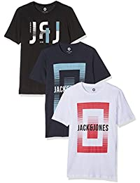 Jack & Jones Jcobooster Tee Ss 3-Pack Crew Neck 006, T-Shirt Homme, (lot de 3)