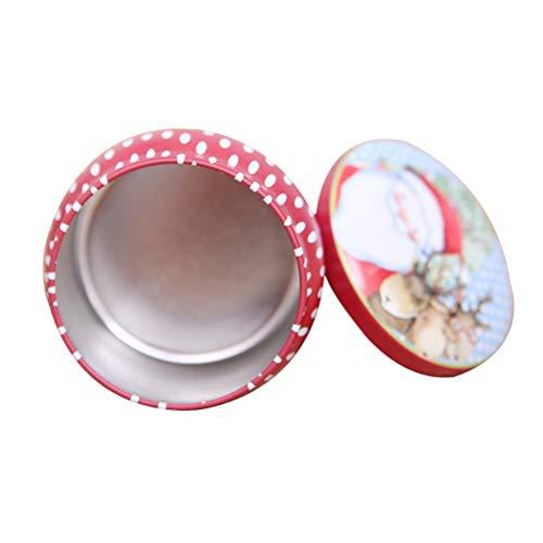 BESTOYARD Weihnachten Serie Hochzeit Süßigkeiten Boxen Weißblech Geschenk behandeln Boxen Hochzeit Gunsten (zufällige Farbe und Stil)