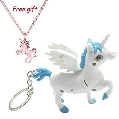 Tangbasi Unicorn Keyring Key Chain LED Light Torch with Sound Handbag Car Pendant : everything £5 (or less!)