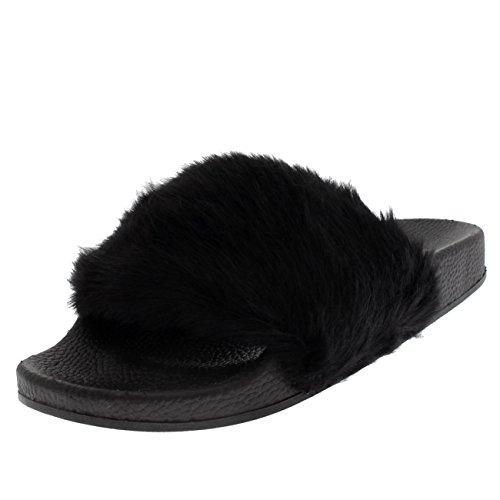 womens-faux-fur-single-strap-open-toe-fluffy-flat-eva-fashion-sandals-black-uk5-eu38-pn0109