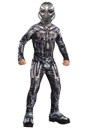 Offizielle Marvel Avengers, Alter von Ultron, Deluxe Ultron Kostüm, Kostüm, Kinder - Kinder Deluxe Ultron Kostüm