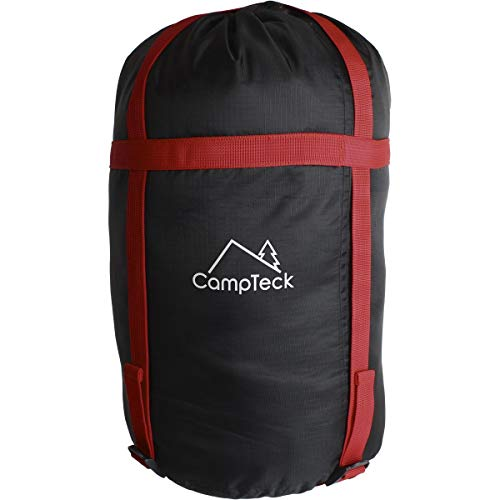 CampTeck U6954 - Leichte Kompressionssack Wasserabweisend Packsack Schlafsack für Schlafsack, Kleidung, Reisen, Camping, Outdoor - schwarz