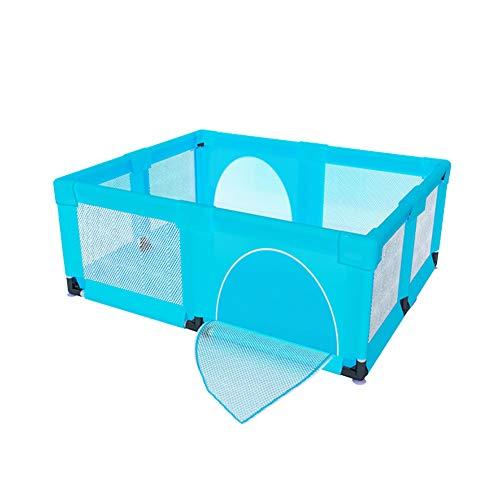 Baby box kids 4 panel safety play center yard home indoor outdoor recinzione blu (dimensioni : 150×190×70cm)