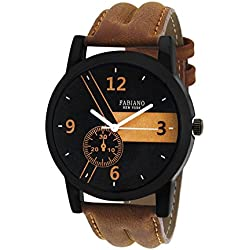 Fabiano New York Analogue Brown Dial Mens|Boys Watch Fny080