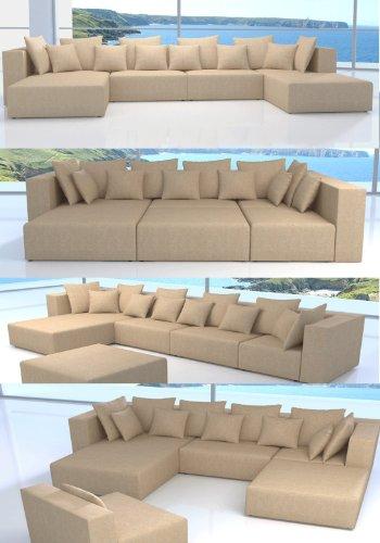 ::: MODELL MILLENIUM: DESIGNER WOHNLANDSCHAFT: 5 LUXUSTEILE + 12 KISSEN NEU ! in 5 Farben zur Auswahl (gewebter Stoff: SUNRISE) > KOSTENLOSER VERSAND in AT & DE ! > BERATUNG: Tel: 0043(1)715-16-16, (Mo. bis Fr. 9.30 bis 15 Uhr) oder E-Mail: office.at@vienna-international-furniture.com :::