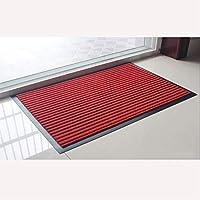 AZXC Carpet Barrier Mats Heavy Quality Non Slip Hard Wearing Barrier Mat PVC Edged Heavy Duty Kitchen Mat Rug (50cm x 80cm),Red