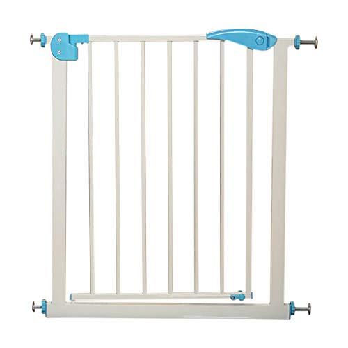 Barrière de sécurité HUYP Poinçonnage Gratuit pour Porte De Sécurité Barre D'escalier pour Bébé Chien De Clôture pour Chien (Size : Light Blue-B (75-82cm))