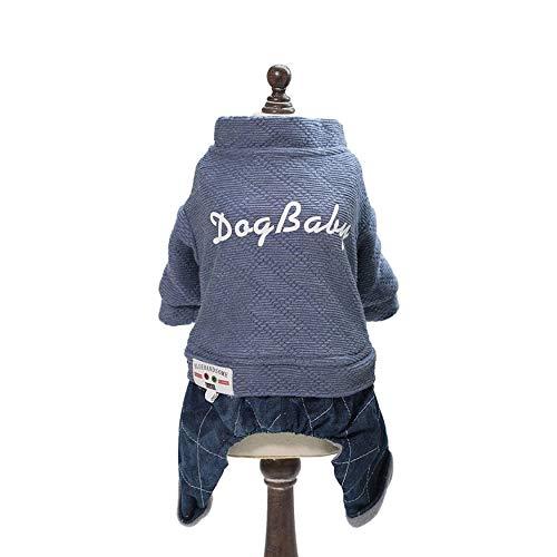 Yaoaoden Mode Haustier Hunde Mantel Vier Beine Baumwolle Jacke Dicke Warme Komfortable Herbst Winter Pullover Hund Babykleidung Mantel Für Hunde -