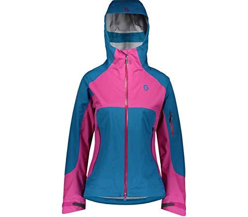 Scott W Explorair 3L Jacket Blau-Lila, Damen DermizaxTM Freizeitjacke, Größe L - Farbe Mykonos Blue - Festival Purple