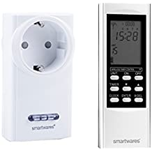 SmartHome Digitale Funk Zeitschaltuhr = Funk-Steckdose + Timer-Fernbedienung, für Leuchten und Geräte bis max. 3500W