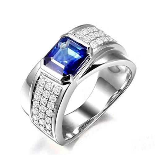 Anello fidanzamento donna argento 925 blu zirconi fedine fidanzamento donna argento 925 misura 18,5