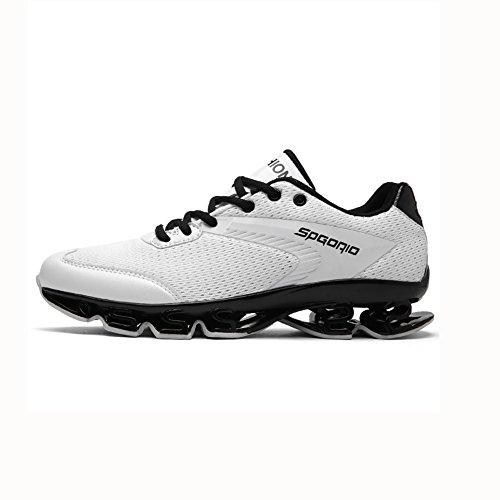YIXINY Schuhe Sneaker Mode Herrenschuhe Sport Im Freien Laufschuhe Atmungsaktiv Stoßdämpfung Frühling Und Sommer (Farbe : Weiß, größe : EU39/UK6.5/CN40)