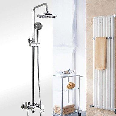 Preisvergleich Produktbild YFF@ILU Badezimmer Wand montiert einzigen Griff Regendusche Wasserhahn Set mit 8 Zoll ABS Grau Kopf Dusche und Dusche
