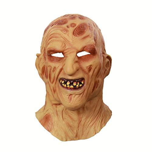 Halloween Maske Horror realistisch für die Meisten Menschen Größe Vollgesichts Latex Material dauerhafte Tanzparty Rollenspiele, Etc. (Männer und Frauen) (WSMJ04)
