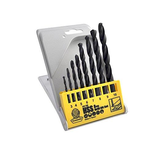 PATTA - HSS Twist Drill Bit / Punta da Trapano HSS Twist per Martello Perforatore, 8 Pezzi a Confezzione 8
