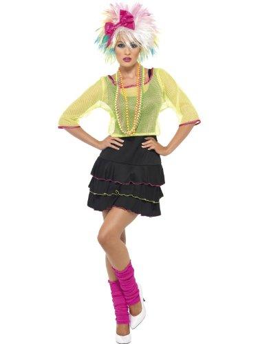 Karneval Damen Kostüm 80er Jahre Pop Torte flippiges Outfit Größe (Pop Monster Kostüme)