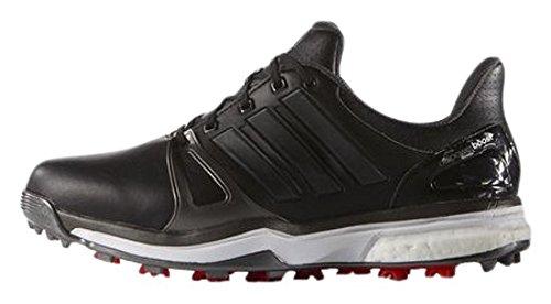 Adidas Adipower Boost 2, Chaussures De Golf Pour Homme Noir / Argent Foncé / Rouge