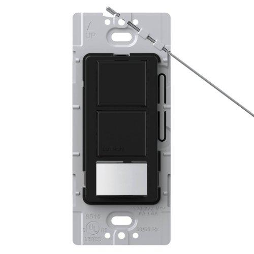 Lutron Lutron MS-OPS6-DDV-BL Maestro 6 Amp Single Pole Dual Circuit Occupancy Sensing Switch, Black by Lutron Occupancy Sensing Switch