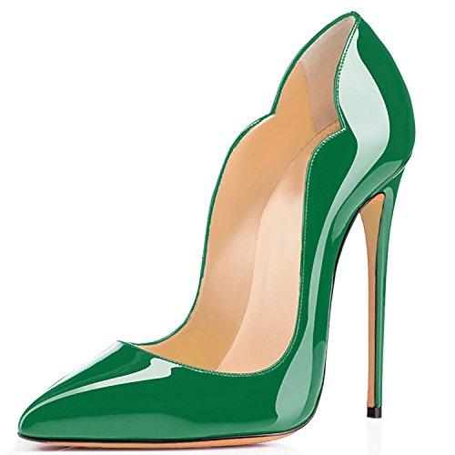 Ubeauty - Chaussures Femme - Chaussures À Talons - Chaussures Classiques Avec Talon Vert-c
