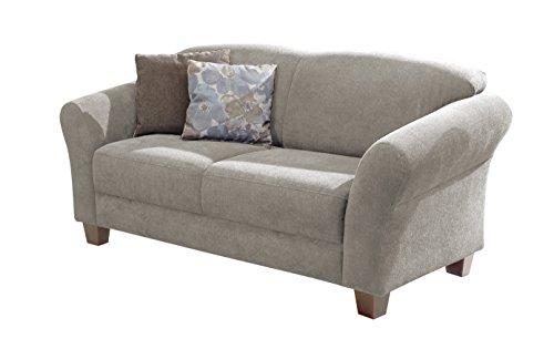 Cavadore 2-Sitzer Gootlaand / Landhaus Sofa im Landhausstil / Landhaus Sofa mit Federkern / Maße: 163 x 89 x 84 cm (BxHxT) / Farbe: Hellgrau / Füße:...