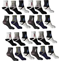 SUZO Organic Soft and Pure Cotton Sports Socks Pack of 12 - (Multicolor)…