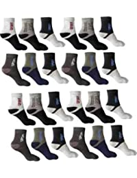 SUZO Organic Soft and Pure Cotton Sports Socks Pack of 12 - Multicolor