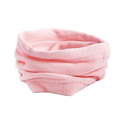 Fcostume 3 in 1 Männer Frauen Unisex Polar Hut Halswärmer Gesichtsmaske Cap Winter Mütze Beanie Halstuch Shawl (Rosa)