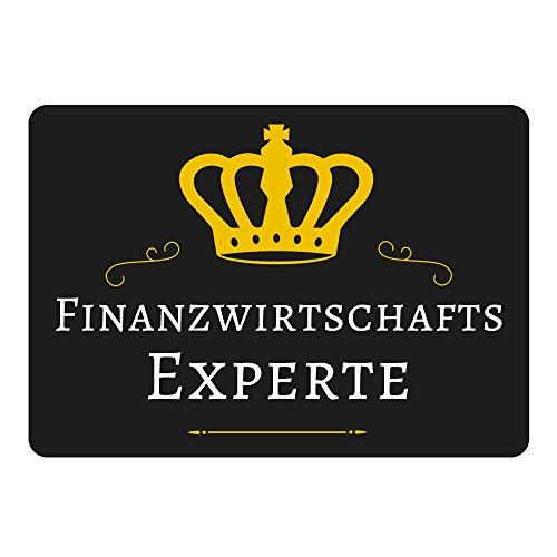 Mousepad Finanzwirtschafts Experte schwarz