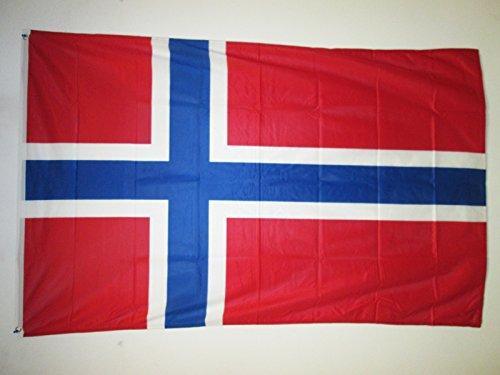 AZ FLAG Flagge NORWEGEN 150x90cm - NORWEGISCHE Fahne 90 x 150 cm Aussenverwendung Metallösen - Flaggen Top Qualität