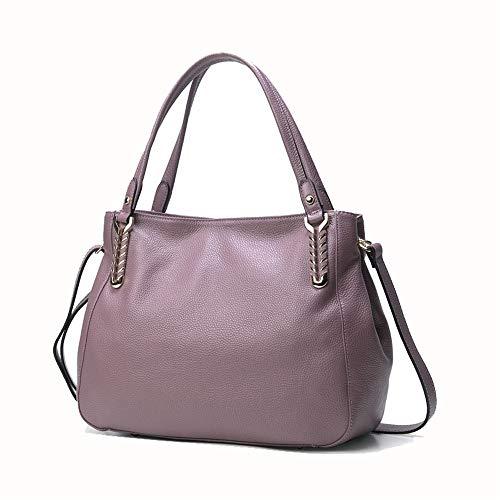 Kieuyhqk Lady Commute Einfache Großraumhandtasche Schultertasche Umhängetasche Retro Wild Tote Bags Damenhandtasche Schulter-Handtasche (Farbe : Lila)