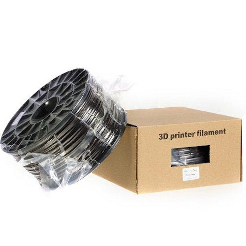 Kaisertech Filament für 3D Drucker 1kg PLA 1.75mm Schwarz - Premium Qualität Spule Rolle