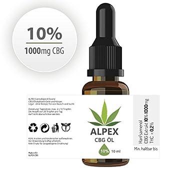 Alpex-cbg (10ml) Premium Cannabigerol Essenz ÖL Cb-1 Und Cb-2 Aktivator 1