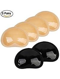 3 pares de bikini lleno sujetador del pecho almohadilla del pecho sujetador de la almohadilla inserción de silicona Mejoramiento de la forma del pecho Empuje y tire Empuje hacia arriba