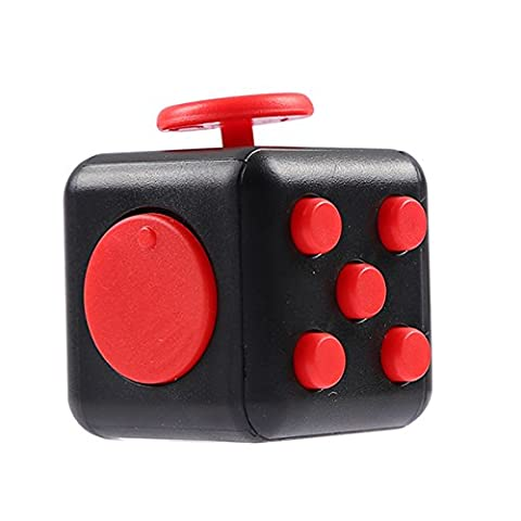 Kids Fidget Cube Red Children Adults Stress Relief Anxiety Attention Toy Devolopment Gift