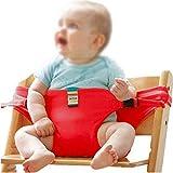 TMY hochstühle Baby Stuhl Tragbare Kindersitz Produkt Esszimmer Stuhl Sicherheitsgurt Fütterung Hochstuhl Harness Baby Fütterung Stuhl (Color : Red)