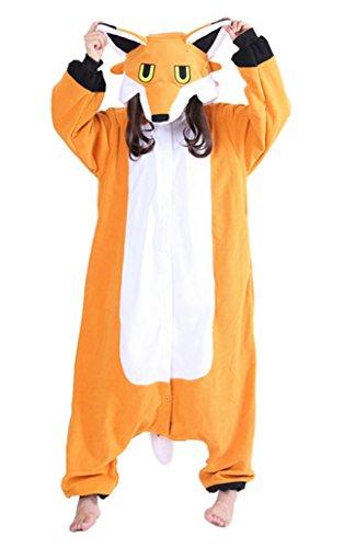ier Kostüme Pyjamas Jumpsuit Onesie Fuchs Cosplay Kostüm Flanell Cosplay Schlafanzug für Karneval Ostern Halloween Weihnacht Orange XL (Lustige Weihnachten-schlafanzüge Für Die Familie)