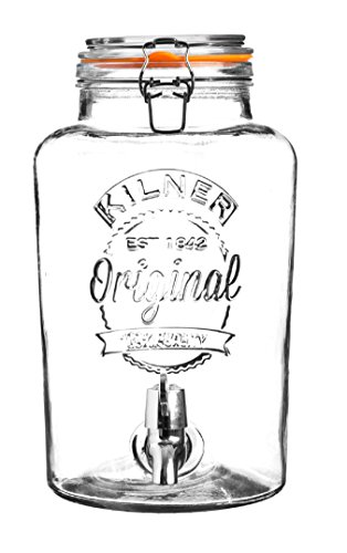 Kilner Getränkespender aus Glas mit Zapfhahn, 8l