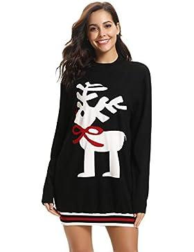 Aibrou Clásico Suéter Mujer Otoño Invierno Navidad,Suave Cómodo y Agradable