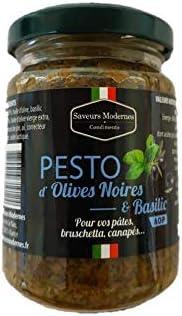 Pesto d'olives noires et basilic 1