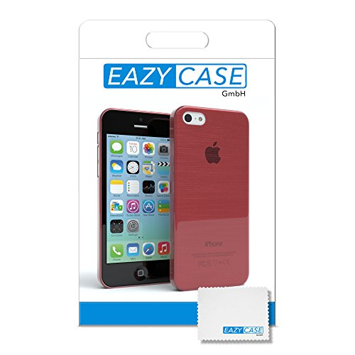 "Apple iPhone 5C Hülle, EAZY CASE Ultra Slim Cover ""Clear"" - Premium Handyhülle Transparente Schutzhülle, Smartphone Case in Transparent Brushed Rosa"