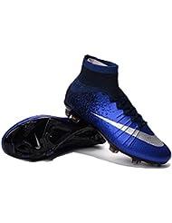 Andrew Zapatos Genérico para hombre Mercurial Superfly CR7FG–Botas de fútbol, hombre, azul real, 41