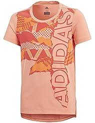 adidas YG BRANDED TEE - Camiseta, Niña, Naranja, (CORTIZ/CORREA/NAALRE)