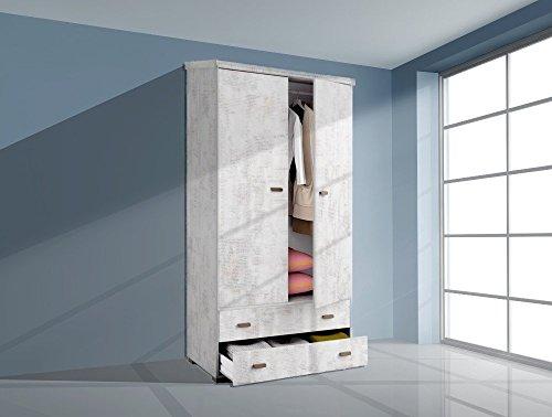 Armario ropero 100x200 Dos Puertas Dos cajones, Color