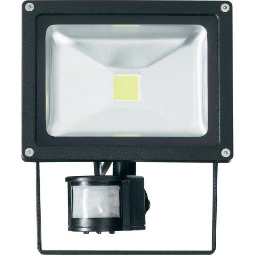 Projecteur LED extérieur avec détecteur de mouvements 20 W blanc froid noir