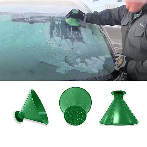 NEEDRA Kratzen Sie EIN rundes magisches kegelförmiges Windschild-Eiskratzer-Schneeschaufelwerkzeug (Grün)