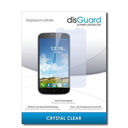 disGuard® Bildschirmschutzfolie [Crystal Clear] kompatibel mit Haier Phone W867 [2 Stück] Kristallklar, Transparent, Unsichtbar, Extrem Kratzfest, Anti-Fingerabdruck - Panzerglas Folie, Schutzfolie