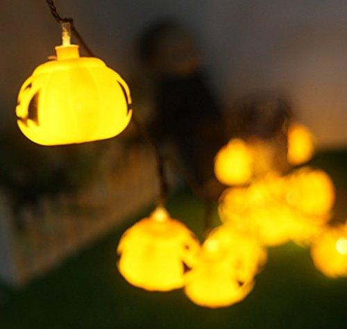 Garten & Terrasse GroßZüGig Ledgle Halloween Lichterkette 6m Solar Halloween Dekoration Licht Beleuchtung Warmes Weiß,