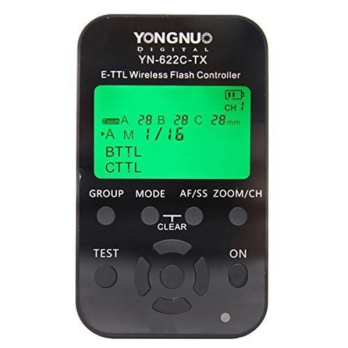YONGNUO YN-622C-TX LCD Flash Transmitter for YN-622C Trigger for Canon DSLR Camera