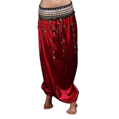 SunWanyi Mujeres Danza de Vientre Del Harem Pantalones Para Yoga Baile Tribal del Traje del Bailarín de Nuevo