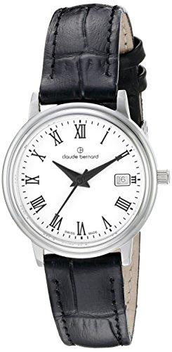 Claude Bernard Women's 54005 3 BR Classic Ladies Analog Display Swiss Quartz Black Watch
